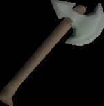 Leaf-bladed battleaxe detail